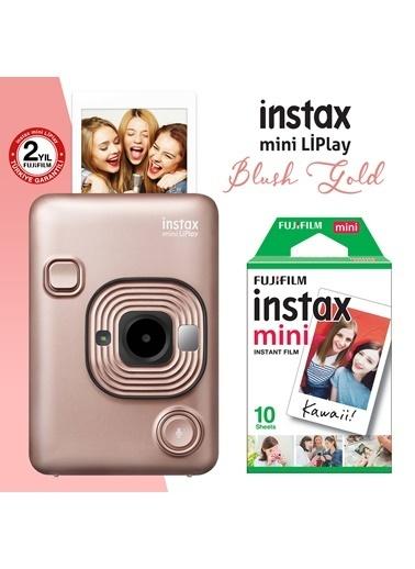 Fujifilm Fujifilm instax mini LiPlay Hybrid Blush  Fotoğraf Makinesi 10lu mini Film Altın
